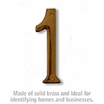 4 Inch Solid Brass Number Antique Finish 1