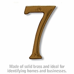 4 Inch Solid Brass Number Antique Finish 7