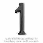 4 Inch Solid Brass Number Black Finish 1