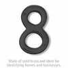 Salsbury 1220BLK-8 (4 Inch) Solid Brass Number Black Finish 8