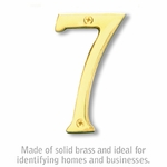 4 Inch Solid Brass Number Brass Finish 7