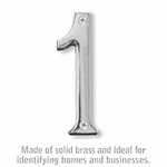 4 Inch Solid Brass Number Chrome Finish 1