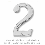 4 Inch Solid Brass Number Chrome Finish 2