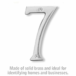 4 Inch Solid Brass Number Chrome Finish 7