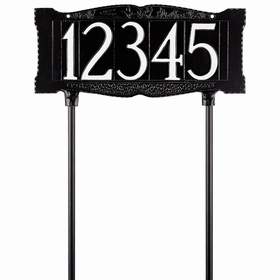 "Standard 4"" Number Lawn Sign - Lawn Mount - One Line"