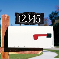 "Whitehall Standard 4"" Number Mailbox Sign - Mailbox Mount - One Line"