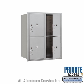 4 Parcel Units - Front Loading Private 4C Mailbox