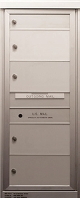 4 Single Height Tenant Doors Front Loading ADA48-S4 USPS Approved 4C Horizontal Mailboxes