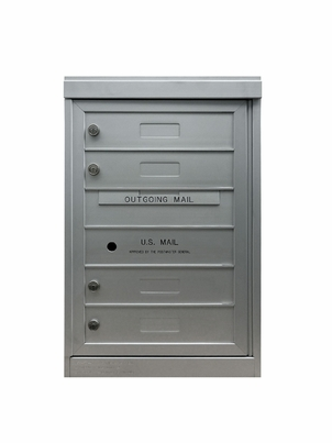 4 Single Height Tenant Doors Front Loading Flex-S4 USPS Approved 4C Horizontal Mailboxes