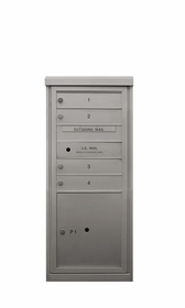 Anodized Finish 4C Mailboxes - 1 to 4 Tenant Doors