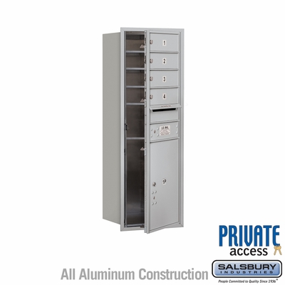 Salsbury 3711S-04AFP 4C Mailboxes 4 Tenant Doors Front Loading