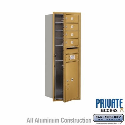 Salsbury 3711S-04GFP 4C Mailboxes 4 Tenant Doors Front Loading