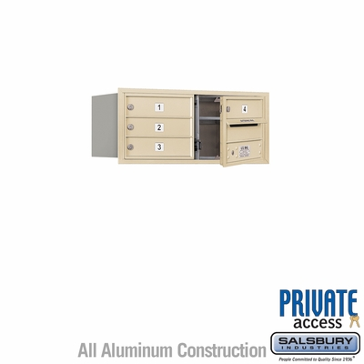Salsbury 3703D-04SFP 4C Mailboxes 4 Tenant Doors Front Loading