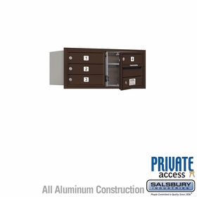 Salsbury 3703D-04ZFP 4C Mailboxes 4 Tenant Doors Front Loading