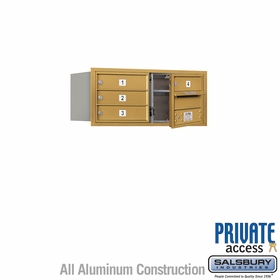 Salsbury 3703D-04GFP 4C Mailboxes 4 Tenant Doors Front Loading