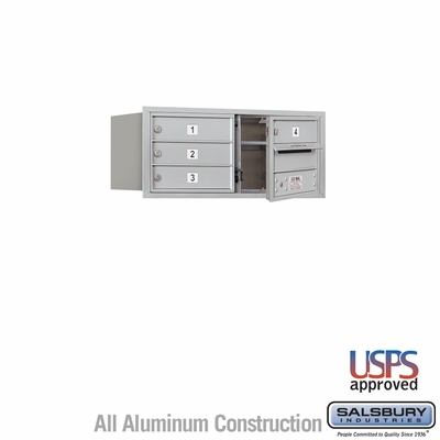 Salsbury 3703D-04AFU 4C Mailboxes 4 Tenant Doors Front Loading