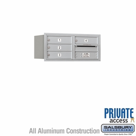 Salsbury 3703D-04ARP 4C Mailboxes 4 Tenant Doors Rear Loading