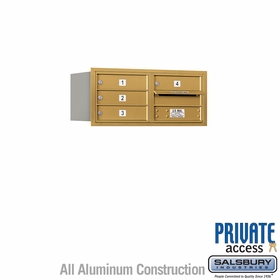 Salsbury 3703D-04GRP 4C Mailboxes 4 Tenant Doors Rear Loading