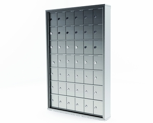 42 Door Mini Storage Cabinet - 5in. H X 4in. W 'A' size doors. Recess Mount - No main access