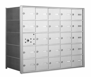4B+ Front Loading Horizontal Mailboxes - 24 Tenant Doors And 1 USPS Master Door