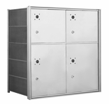 1400 Series Front-Loading Horizontal Mailboxes - 4 Parcel Lockers
