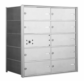 1400 Series Front-Loading Horizontal Mailboxes - 9 Double Wide Tenant Doors and 1 Master Door