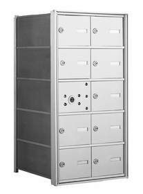 4B+ Front-Loading Horizontal Mailboxes - 9 Tenant Doors and 1 Master Door