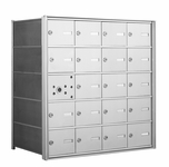 4B+ Horizontal Front-Loading Mailboxes - 19 Tenant Doors And 1 USPS Master Door