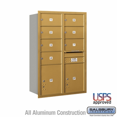 Salsbury 3713D-07GFU 4C Mailboxes 7 Tenant Doors Front Loading