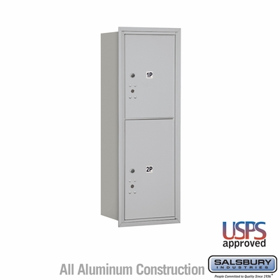 Salsbury 3711S-2PARU 4C Mailboxes 2 Parcel Lockers Rear Loading