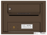 4C Rear Loading Horizontal Mailboxes 1 to 2 Doors