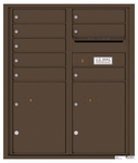 4C Rear Loading Horizontal Mailboxes 7 to 8 Doors
