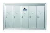 5 Door Recessed Vertical Mailboxes
