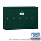 Salsbury 3505GSP 5 Door Vertical Mailbox Green Surface Mounted Private Access