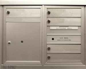 5 Single Height Tenant Doors 1 Parcel Locker Front Loading ADA48-D5P1 USPS Approved 4C Horizontal Mailboxes