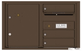 4C Rear Loading Horizontal Mailboxes 3 to 4 Doors