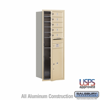 Salsbury 3713S-05SFU 4C Mailboxes 5 Tenant Doors Front Loading