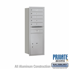 Salsbury 3713S-05ARP 4C Mailboxes 5 Tenant Doors Rear Loading