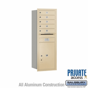 Salsbury 3713S-05SRP 4C Mailboxes 5 Tenant Doors Rear Loading