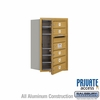 Salsbury 3707S-05GFP 4C Mailboxes 5 Tenant Doors Front Loading