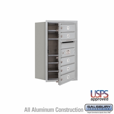Salsbury 3707S-05AFU 4C Mailboxes 5 Tenant Doors Front Loading