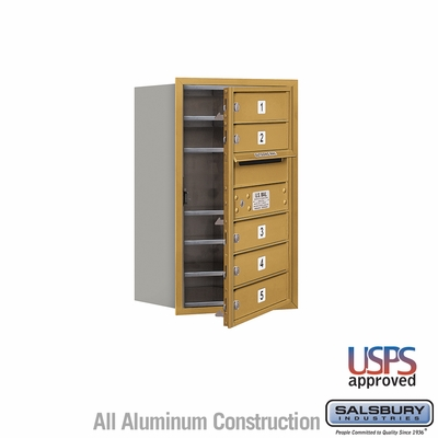 Salsbury 3707S-05GFU 4C Mailboxes 5 Tenant Doors Front Loading