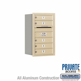 Salsbury 3707S-05SRP 4C Mailboxes 5 Tenant Doors Rear Loading
