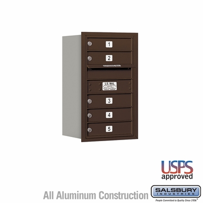 Salsbury 3707S-05ZRU 4C Mailboxes 5 Tenant Doors Rear Loading