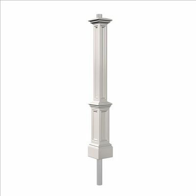 Signature Lamp Post (with aluminum ground mount) in White