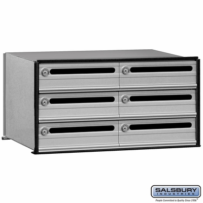 Salsbury 2406 6 Tenant Door Data Distribution System Aluminum Box