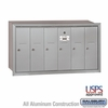 Salsbury 3506ARU 6 Door Vertical Mailbox Aluminum Finish Recessed Mounted USPS Access