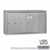 Salsbury 3506ASU 6-Door Vertical Mailbox - Aluminum Finish - USPS Access