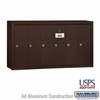 Salsbury 3506ZSU 6 Door Vertical Mailbox Bronze Finish Surface Mounted USPS Access