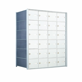6 Doors High x 4 Doors (24 Tenants) 1500 Horizontal Mailbox Rear-Load